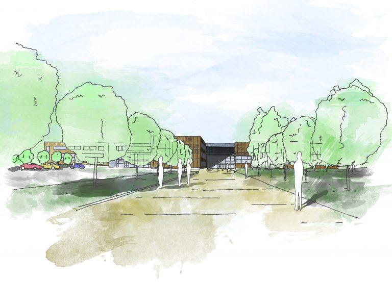 Hoe Valley School Sketch